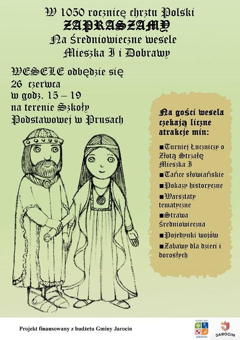 Zespół Szkół W Prusach Zaproszenie Na Wesele Mieszka I I Dobrawy